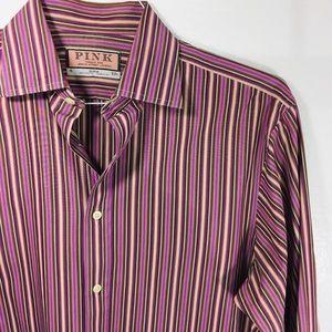 Thomas Pink striped dress shirt